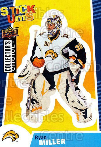 2009-10 Collectors Choice Stick Ums #3 Ryan Miller<br/>3 In Stock - $2.00 each - <a href=https://centericecollectibles.foxycart.com/cart?name=2009-10%20Collectors%20Choice%20Stick%20Ums%20%233%20Ryan%20Miller...&quantity_max=3&price=$2.00&code=517938 class=foxycart> Buy it now! </a>