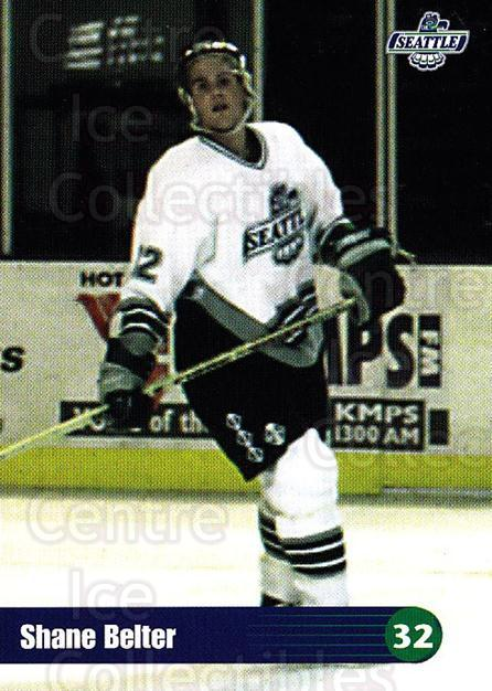 1996-97 Seattle Thunderbirds #2 Shane Belter<br/>4 In Stock - $3.00 each - <a href=https://centericecollectibles.foxycart.com/cart?name=1996-97%20Seattle%20Thunderbirds%20%232%20Shane%20Belter...&price=$3.00&code=51793 class=foxycart> Buy it now! </a>