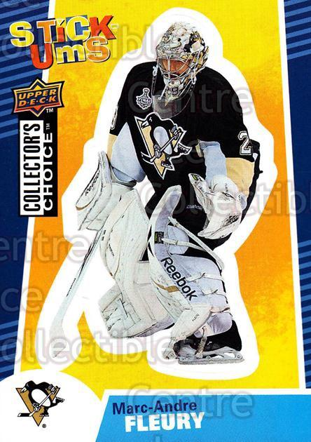 2009-10 Collectors Choice Stick-Ums #24 Marc-Andre Fleury<br/>3 In Stock - $2.00 each - <a href=https://centericecollectibles.foxycart.com/cart?name=2009-10%20Collectors%20Choice%20Stick-Ums%20%2324%20Marc-Andre%20Fleu...&quantity_max=3&price=$2.00&code=517959 class=foxycart> Buy it now! </a>