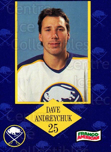1989-90 Buffalo Sabres Campbells #2 Dave Andreychuk<br/>2 In Stock - $3.00 each - <a href=https://centericecollectibles.foxycart.com/cart?name=1989-90%20Buffalo%20Sabres%20Campbells%20%232%20Dave%20Andreychuk...&quantity_max=2&price=$3.00&code=517967 class=foxycart> Buy it now! </a>