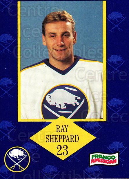 1989-90 Buffalo Sabres Campbells #23 Ray Sheppard<br/>2 In Stock - $3.00 each - <a href=https://centericecollectibles.foxycart.com/cart?name=1989-90%20Buffalo%20Sabres%20Campbells%20%2323%20Ray%20Sheppard...&quantity_max=2&price=$3.00&code=517988 class=foxycart> Buy it now! </a>