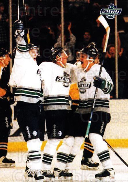 1996-97 Seattle Thunderbirds #28 Seattle Thunderbirds<br/>4 In Stock - $3.00 each - <a href=https://centericecollectibles.foxycart.com/cart?name=1996-97%20Seattle%20Thunderbirds%20%2328%20Seattle%20Thunder...&price=$3.00&code=51800 class=foxycart> Buy it now! </a>