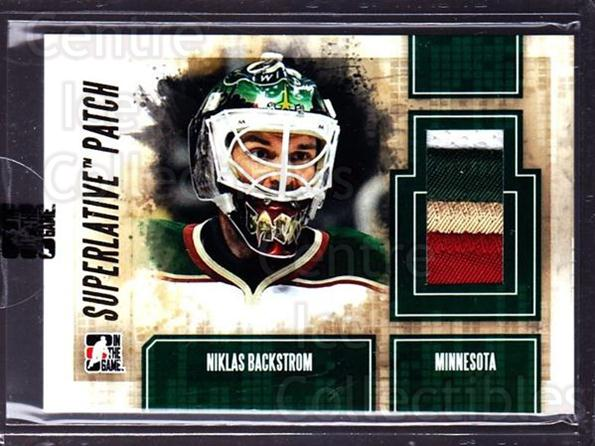 2012-13 ITG Superlative Patches Gold #44 Niklas Backstrom<br/>1 In Stock - $20.00 each - <a href=https://centericecollectibles.foxycart.com/cart?name=2012-13%20ITG%20Superlative%20Patches%20Gold%20%2344%20Niklas%20Backstro...&quantity_max=1&price=$20.00&code=518428 class=foxycart> Buy it now! </a>