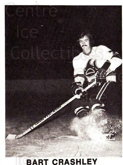 1972-73 Los Angeles Sharks WHA #2 Bart Crashley<br/>1 In Stock - $5.00 each - <a href=https://centericecollectibles.foxycart.com/cart?name=1972-73%20Los%20Angeles%20Sharks%20WHA%20%232%20Bart%20Crashley...&price=$5.00&code=518512 class=foxycart> Buy it now! </a>