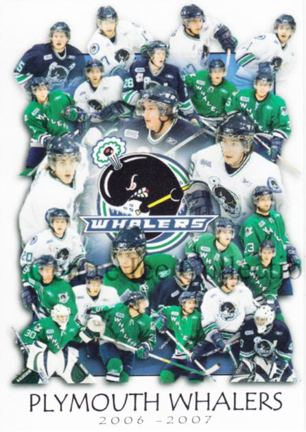 2006-07 Plymouth Whalers #28 Team Photo, Checklist<br/>1 In Stock - $3.00 each - <a href=https://centericecollectibles.foxycart.com/cart?name=2006-07%20Plymouth%20Whalers%20%2328%20Team%20Photo,%20Che...&price=$3.00&code=518568 class=foxycart> Buy it now! </a>
