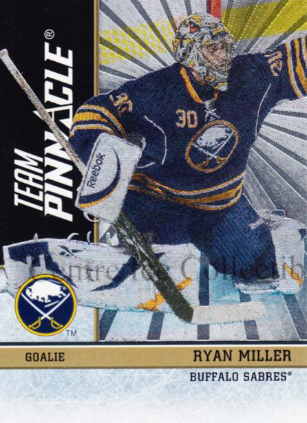 2010-11 Pinnacle Team Pinnacle #6 Ryan Miller, Ilya Bryzgalov<br/>1 In Stock - $5.00 each - <a href=https://centericecollectibles.foxycart.com/cart?name=2010-11%20Pinnacle%20Team%20Pinnacle%20%236%20Ryan%20Miller,%20Il...&quantity_max=1&price=$5.00&code=518575 class=foxycart> Buy it now! </a>