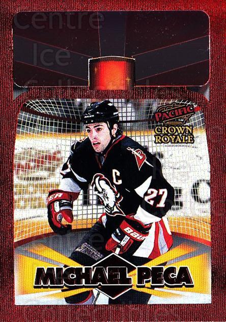 1997-98 Crown Royale Lamplighters Cel-Fusion Die-Cuts #4 Michael Peca<br/>1 In Stock - $10.00 each - <a href=https://centericecollectibles.foxycart.com/cart?name=1997-98%20Crown%20Royale%20Lamplighters%20Cel-Fusion%20Die-Cuts%20%234%20Michael%20Peca...&quantity_max=1&price=$10.00&code=518585 class=foxycart> Buy it now! </a>