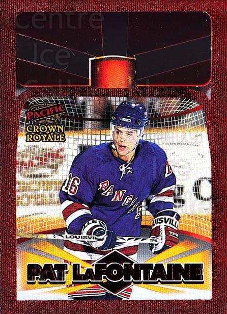 1997-98 Crown Royale Lamplighters Cel-Fusion Die-Cuts #12 Pat LaFontaine<br/>1 In Stock - $10.00 each - <a href=https://centericecollectibles.foxycart.com/cart?name=1997-98%20Crown%20Royale%20Lamplighters%20Cel-Fusion%20Die-Cuts%20%2312%20Pat%20LaFontaine...&quantity_max=1&price=$10.00&code=518593 class=foxycart> Buy it now! </a>