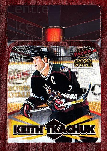 1997-98 Crown Royale Lamplighters Cel-Fusion Die-Cuts #16 Keith Tkachuk<br/>1 In Stock - $10.00 each - <a href=https://centericecollectibles.foxycart.com/cart?name=1997-98%20Crown%20Royale%20Lamplighters%20Cel-Fusion%20Die-Cuts%20%2316%20Keith%20Tkachuk...&quantity_max=1&price=$10.00&code=518597 class=foxycart> Buy it now! </a>