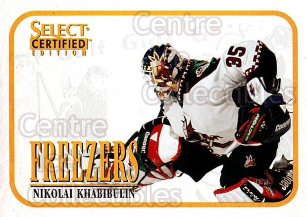 1996-97 Select Certified Freezers #14 Nikolai Khabibulin<br/>3 In Stock - $3.00 each - <a href=https://centericecollectibles.foxycart.com/cart?name=1996-97%20Select%20Certified%20Freezers%20%2314%20Nikolai%20Khabibu...&quantity_max=3&price=$3.00&code=51879 class=foxycart> Buy it now! </a>
