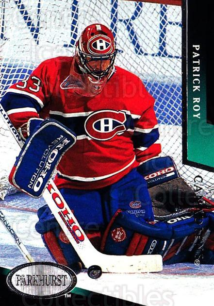 1993-94 Parkhurst #100 Patrick Roy<br/>1 In Stock - $2.00 each - <a href=https://centericecollectibles.foxycart.com/cart?name=1993-94%20Parkhurst%20%23100%20Patrick%20Roy...&price=$2.00&code=518972 class=foxycart> Buy it now! </a>