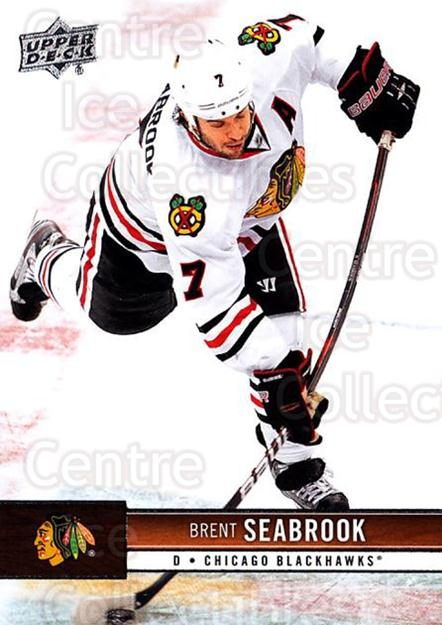 2012-13 Upper Deck #36 Brent Seabrook<br/>9 In Stock - $1.00 each - <a href=https://centericecollectibles.foxycart.com/cart?name=2012-13%20Upper%20Deck%20%2336%20Brent%20Seabrook...&quantity_max=9&price=$1.00&code=519020 class=foxycart> Buy it now! </a>