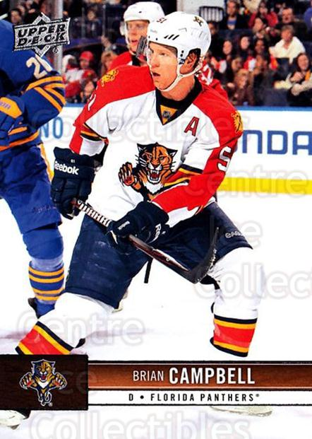 2012-13 Upper Deck #76 Brian Campbell<br/>10 In Stock - $1.00 each - <a href=https://centericecollectibles.foxycart.com/cart?name=2012-13%20Upper%20Deck%20%2376%20Brian%20Campbell...&quantity_max=10&price=$1.00&code=519060 class=foxycart> Buy it now! </a>