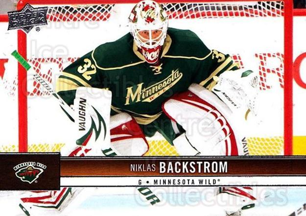 2012-13 Upper Deck #85 Niklas Backstrom<br/>9 In Stock - $1.00 each - <a href=https://centericecollectibles.foxycart.com/cart?name=2012-13%20Upper%20Deck%20%2385%20Niklas%20Backstro...&quantity_max=9&price=$1.00&code=519069 class=foxycart> Buy it now! </a>