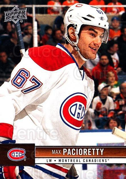 2012-13 Upper Deck #91 Max Pacioretty<br/>8 In Stock - $1.00 each - <a href=https://centericecollectibles.foxycart.com/cart?name=2012-13%20Upper%20Deck%20%2391%20Max%20Pacioretty...&quantity_max=8&price=$1.00&code=519075 class=foxycart> Buy it now! </a>