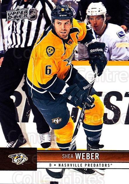 2012-13 Upper Deck #98 Shea Weber<br/>9 In Stock - $1.00 each - <a href=https://centericecollectibles.foxycart.com/cart?name=2012-13%20Upper%20Deck%20%2398%20Shea%20Weber...&quantity_max=9&price=$1.00&code=519082 class=foxycart> Buy it now! </a>