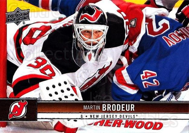 2012-13 Upper Deck #104 Martin Brodeur<br/>6 In Stock - $2.00 each - <a href=https://centericecollectibles.foxycart.com/cart?name=2012-13%20Upper%20Deck%20%23104%20Martin%20Brodeur...&quantity_max=6&price=$2.00&code=519088 class=foxycart> Buy it now! </a>