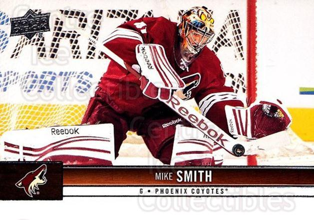 2012-13 Upper Deck #140 Mike Smith<br/>8 In Stock - $1.00 each - <a href=https://centericecollectibles.foxycart.com/cart?name=2012-13%20Upper%20Deck%20%23140%20Mike%20Smith...&quantity_max=8&price=$1.00&code=519124 class=foxycart> Buy it now! </a>