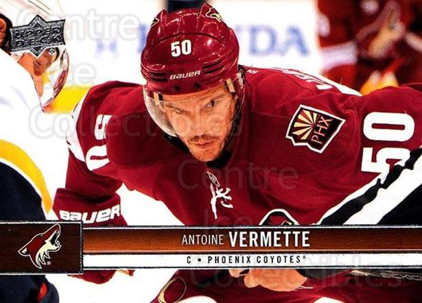 2012-13 Upper Deck #141 Antoine Vermette<br/>9 In Stock - $1.00 each - <a href=https://centericecollectibles.foxycart.com/cart?name=2012-13%20Upper%20Deck%20%23141%20Antoine%20Vermett...&quantity_max=9&price=$1.00&code=519125 class=foxycart> Buy it now! </a>