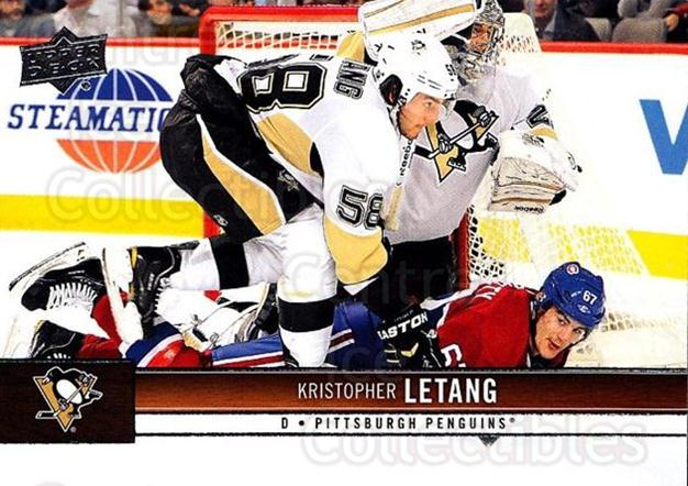 2012-13 Upper Deck #146 Kristopher Letang<br/>10 In Stock - $1.00 each - <a href=https://centericecollectibles.foxycart.com/cart?name=2012-13%20Upper%20Deck%20%23146%20Kristopher%20Leta...&quantity_max=10&price=$1.00&code=519130 class=foxycart> Buy it now! </a>