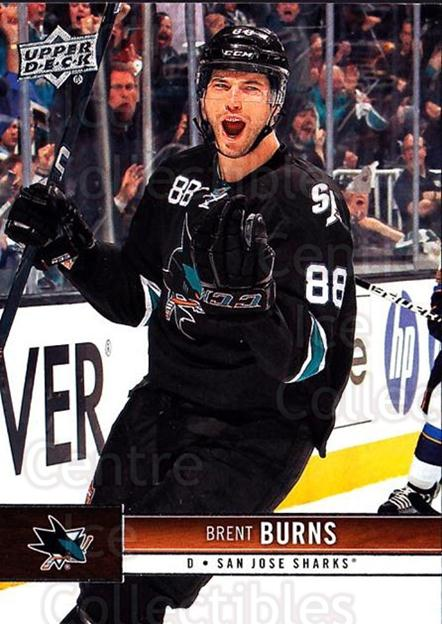 2012-13 Upper Deck #156 Brent Burns<br/>9 In Stock - $1.00 each - <a href=https://centericecollectibles.foxycart.com/cart?name=2012-13%20Upper%20Deck%20%23156%20Brent%20Burns...&quantity_max=9&price=$1.00&code=519140 class=foxycart> Buy it now! </a>