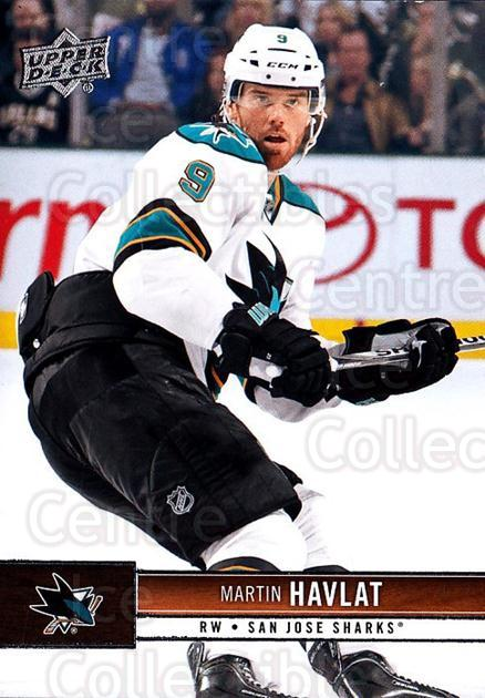 2012-13 Upper Deck #158 Martin Havlat<br/>9 In Stock - $1.00 each - <a href=https://centericecollectibles.foxycart.com/cart?name=2012-13%20Upper%20Deck%20%23158%20Martin%20Havlat...&quantity_max=9&price=$1.00&code=519142 class=foxycart> Buy it now! </a>