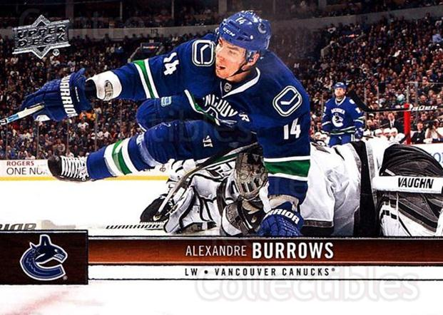 2012-13 Upper Deck #180 Alexandre Burrows<br/>9 In Stock - $1.00 each - <a href=https://centericecollectibles.foxycart.com/cart?name=2012-13%20Upper%20Deck%20%23180%20Alexandre%20Burro...&quantity_max=9&price=$1.00&code=519164 class=foxycart> Buy it now! </a>