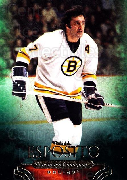 2011-12 Parkhurst Champions #11 Phil Esposito<br/>6 In Stock - $2.00 each - <a href=https://centericecollectibles.foxycart.com/cart?name=2011-12%20Parkhurst%20Champions%20%2311%20Phil%20Esposito...&quantity_max=6&price=$2.00&code=519581 class=foxycart> Buy it now! </a>