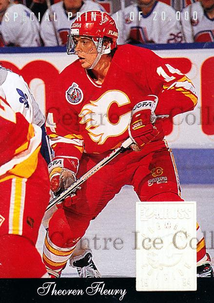 1993-94 Donruss Special Print #D Theo Fleury<br/>2 In Stock - $2.00 each - <a href=https://centericecollectibles.foxycart.com/cart?name=1993-94%20Donruss%20Special%20Print%20%23D%20Theo%20Fleury...&quantity_max=2&price=$2.00&code=519 class=foxycart> Buy it now! </a>