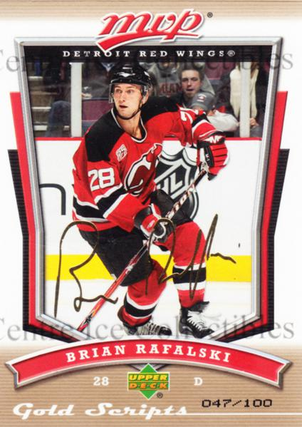 2007-08 Upper Deck MVP Gold Script #94 Brian Rafalski<br/>1 In Stock - $5.00 each - <a href=https://centericecollectibles.foxycart.com/cart?name=2007-08%20Upper%20Deck%20MVP%20Gold%20Script%20%2394%20Brian%20Rafalski...&quantity_max=1&price=$5.00&code=521019 class=foxycart> Buy it now! </a>