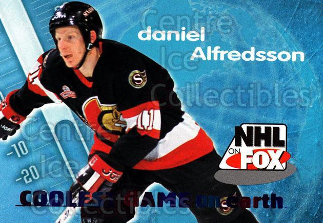 1996-97 SkyBox Impact NHL on Fox #1 Daniel Alfredsson<br/>3 In Stock - $2.00 each - <a href=https://centericecollectibles.foxycart.com/cart?name=1996-97%20SkyBox%20Impact%20NHL%20on%20Fox%20%231%20Daniel%20Alfredss...&quantity_max=3&price=$2.00&code=52109 class=foxycart> Buy it now! </a>