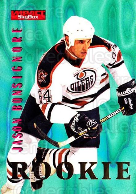 1996-97 SkyBox Impact #146 Jason Bonsignore<br/>4 In Stock - $1.00 each - <a href=https://centericecollectibles.foxycart.com/cart?name=1996-97%20SkyBox%20Impact%20%23146%20Jason%20Bonsignor...&quantity_max=4&price=$1.00&code=52173 class=foxycart> Buy it now! </a>