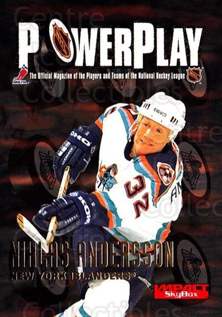 1996-97 SkyBox Impact #165 Niklas Andersson<br/>5 In Stock - $1.00 each - <a href=https://centericecollectibles.foxycart.com/cart?name=1996-97%20SkyBox%20Impact%20%23165%20Niklas%20Andersso...&quantity_max=5&price=$1.00&code=52192 class=foxycart> Buy it now! </a>