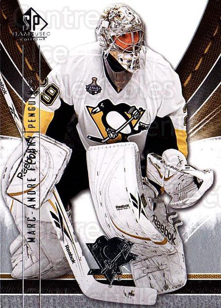 2009-10 Sp Game Used #79 Marc-Andre Fleury<br/>2 In Stock - $3.00 each - <a href=https://centericecollectibles.foxycart.com/cart?name=2009-10%20Sp%20Game%20Used%20%2379%20Marc-Andre%20Fleu...&quantity_max=2&price=$3.00&code=522208 class=foxycart> Buy it now! </a>