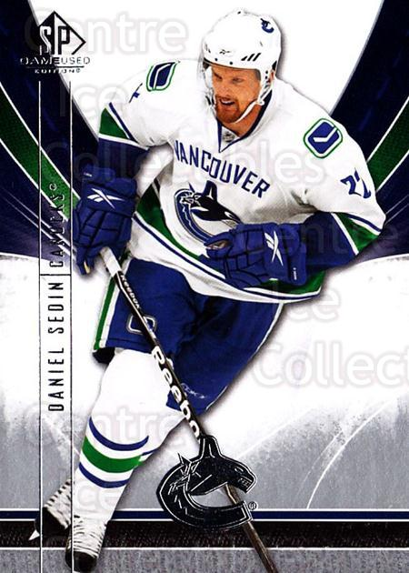 2009-10 Sp Game Used #95 Daniel Sedin<br/>2 In Stock - $1.00 each - <a href=https://centericecollectibles.foxycart.com/cart?name=2009-10%20Sp%20Game%20Used%20%2395%20Daniel%20Sedin...&quantity_max=2&price=$1.00&code=522224 class=foxycart> Buy it now! </a>