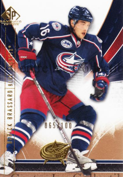 2009-10 Sp Game Used Gold #31 Derick Brassard<br/>1 In Stock - $5.00 each - <a href=https://centericecollectibles.foxycart.com/cart?name=2009-10%20Sp%20Game%20Used%20Gold%20%2331%20Derick%20Brassard...&quantity_max=1&price=$5.00&code=522360 class=foxycart> Buy it now! </a>