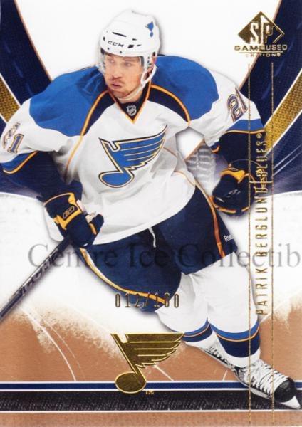 2009-10 Sp Game Used Gold #87 Patrik Berglund<br/>1 In Stock - $5.00 each - <a href=https://centericecollectibles.foxycart.com/cart?name=2009-10%20Sp%20Game%20Used%20Gold%20%2387%20Patrik%20Berglund...&quantity_max=1&price=$5.00&code=522416 class=foxycart> Buy it now! </a>
