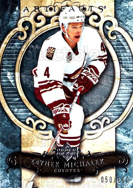 2007-08 UD Artifacts Silver #100 Zbynek Michalek<br/>2 In Stock - $5.00 each - <a href=https://centericecollectibles.foxycart.com/cart?name=2007-08%20UD%20Artifacts%20Silver%20%23100%20Zbynek%20Michalek...&quantity_max=2&price=$5.00&code=523502 class=foxycart> Buy it now! </a>