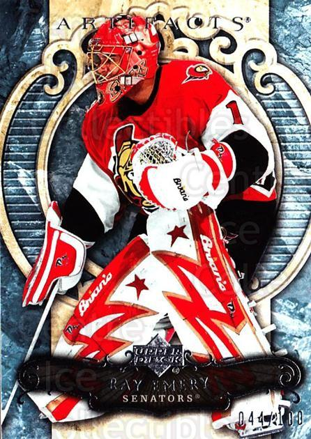 2007-08 UD Artifacts Silver #12 Ray Emery<br/>1 In Stock - $5.00 each - <a href=https://centericecollectibles.foxycart.com/cart?name=2007-08%20UD%20Artifacts%20Silver%20%2312%20Ray%20Emery...&quantity_max=1&price=$5.00&code=523504 class=foxycart> Buy it now! </a>