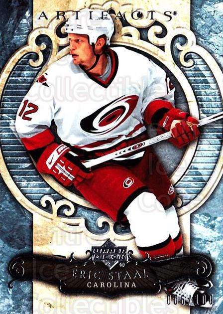 2007-08 UD Artifacts Silver #36 Eric Staal<br/>1 In Stock - $5.00 each - <a href=https://centericecollectibles.foxycart.com/cart?name=2007-08%20UD%20Artifacts%20Silver%20%2336%20Eric%20Staal...&quantity_max=1&price=$5.00&code=523529 class=foxycart> Buy it now! </a>