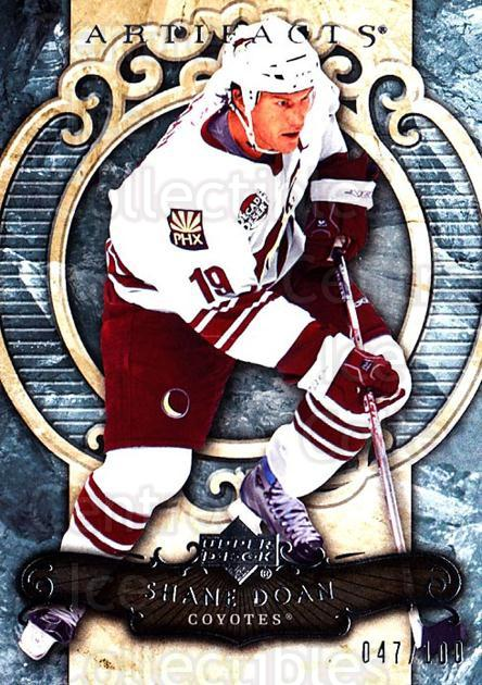 2007-08 UD Artifacts Silver #98 Shane Doan<br/>1 In Stock - $5.00 each - <a href=https://centericecollectibles.foxycart.com/cart?name=2007-08%20UD%20Artifacts%20Silver%20%2398%20Shane%20Doan...&quantity_max=1&price=$5.00&code=523589 class=foxycart> Buy it now! </a>
