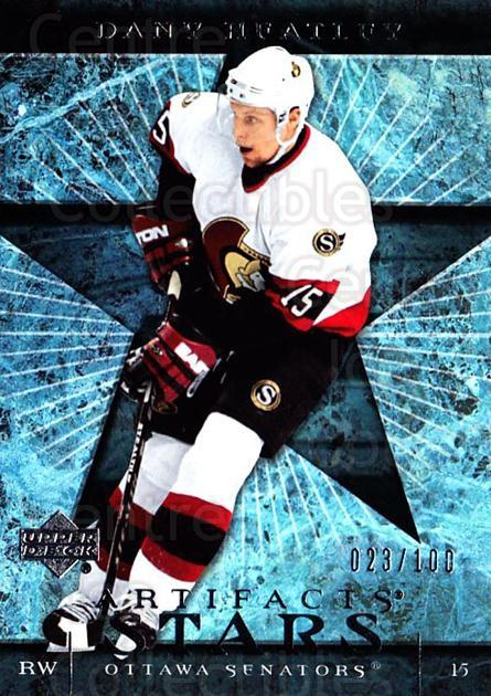 2007-08 UD Artifacts Silver #124 Dany Heatley<br/>1 In Stock - $5.00 each - <a href=https://centericecollectibles.foxycart.com/cart?name=2007-08%20UD%20Artifacts%20Silver%20%23124%20Dany%20Heatley...&quantity_max=1&price=$5.00&code=523616 class=foxycart> Buy it now! </a>