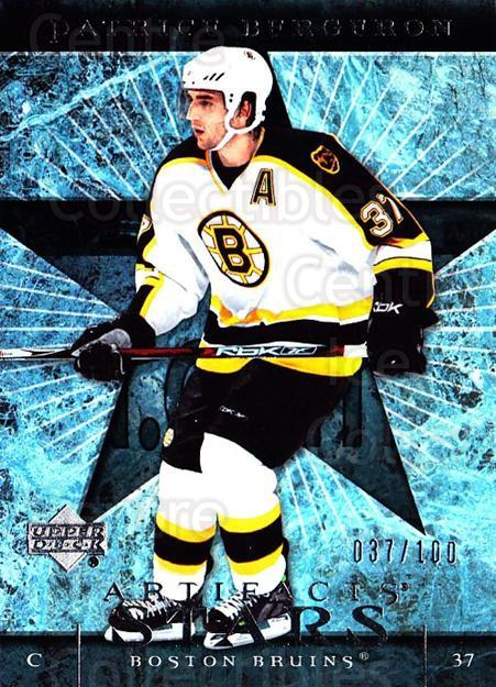 2007-08 UD Artifacts Silver #135 Patrice Bergeron<br/>1 In Stock - $10.00 each - <a href=https://centericecollectibles.foxycart.com/cart?name=2007-08%20UD%20Artifacts%20Silver%20%23135%20Patrice%20Bergero...&quantity_max=1&price=$10.00&code=523627 class=foxycart> Buy it now! </a>
