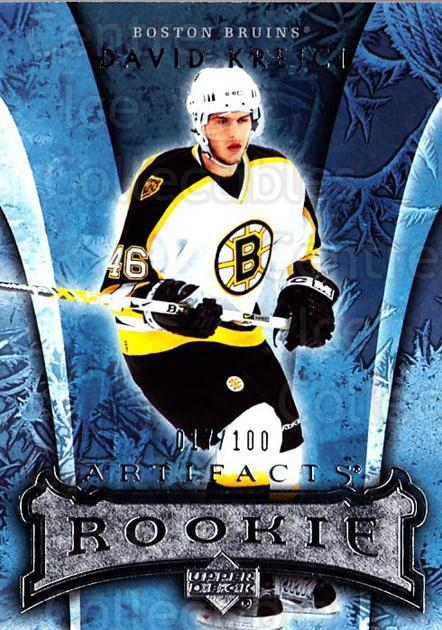 2007-08 UD Artifacts Silver #150 David Krejci<br/>1 In Stock - $10.00 each - <a href=https://centericecollectibles.foxycart.com/cart?name=2007-08%20UD%20Artifacts%20Silver%20%23150%20David%20Krejci...&quantity_max=1&price=$10.00&code=523642 class=foxycart> Buy it now! </a>
