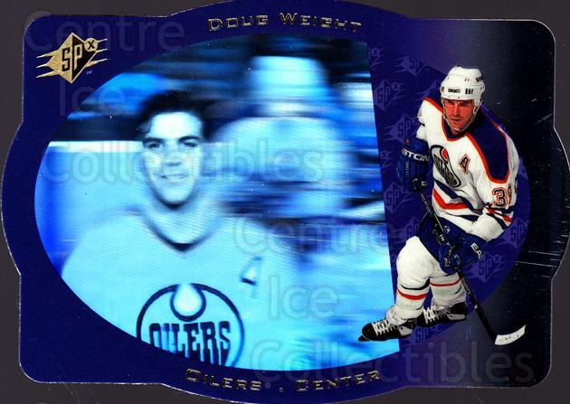 1996-97 SPx #17 Doug Weight<br/>1 In Stock - $1.00 each - <a href=https://centericecollectibles.foxycart.com/cart?name=1996-97%20SPx%20%2317%20Doug%20Weight...&quantity_max=1&price=$1.00&code=52441 class=foxycart> Buy it now! </a>