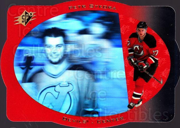 1996-97 SPx #23 Petr Sykora<br/>5 In Stock - $1.00 each - <a href=https://centericecollectibles.foxycart.com/cart?name=1996-97%20SPx%20%2323%20Petr%20Sykora...&quantity_max=5&price=$1.00&code=52447 class=foxycart> Buy it now! </a>
