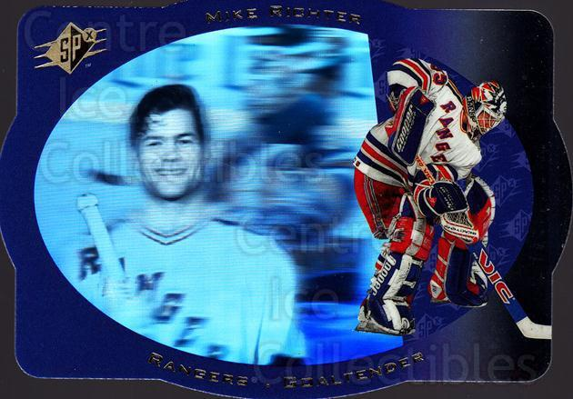 1996-97 SPx #28 Mike Richter<br/>4 In Stock - $1.00 each - <a href=https://centericecollectibles.foxycart.com/cart?name=1996-97%20SPx%20%2328%20Mike%20Richter...&quantity_max=4&price=$1.00&code=52451 class=foxycart> Buy it now! </a>
