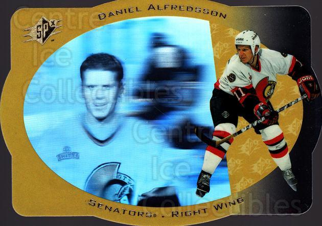 1996-97 SPx #32 Daniel Alfredsson<br/>1 In Stock - $1.00 each - <a href=https://centericecollectibles.foxycart.com/cart?name=1996-97%20SPx%20%2332%20Daniel%20Alfredss...&quantity_max=1&price=$1.00&code=52455 class=foxycart> Buy it now! </a>