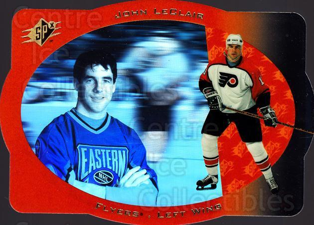 1996-97 SPx #34 John LeClair<br/>5 In Stock - $1.00 each - <a href=https://centericecollectibles.foxycart.com/cart?name=1996-97%20SPx%20%2334%20John%20LeClair...&quantity_max=5&price=$1.00&code=52457 class=foxycart> Buy it now! </a>