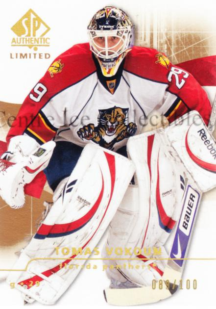 2008-09 Sp Authentic Limited #6 Tomas Vokoun<br/>1 In Stock - $5.00 each - <a href=https://centericecollectibles.foxycart.com/cart?name=2008-09%20Sp%20Authentic%20Limited%20%236%20Tomas%20Vokoun...&quantity_max=1&price=$5.00&code=525665 class=foxycart> Buy it now! </a>